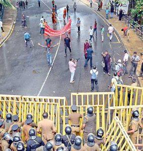 Sri Lankan protests, Political unrest